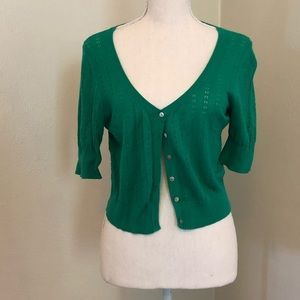 Green Cardigan 3/4 Length Sleeves